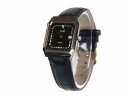 Auth RADO DiaStar 4Point Dia Black Leather Band Unisex Quartz Watch RW15573L - $189.00