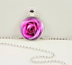 Pink Rose Pendant - $12.95