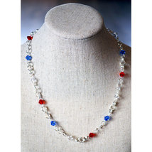 Crystal Beaded Chain Necklace image 2