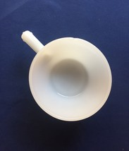Vintage 70s Anchor Hocking Fire King white soup bowl with handle image 2
