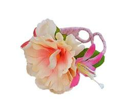 1 Pair Of Charming Pink Champagne Flowers Beach Bracelets Lace Bracelets Jewelry
