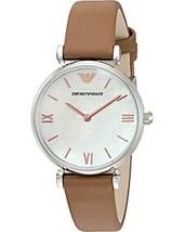 Emporio Armani Women's AR1988 Retro Brown Leather Quartz Watch - $155.96