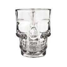 Glass Stein, 16oz Eerie Skull Beer Decorative Mug Glass Beer Stein - $19.49