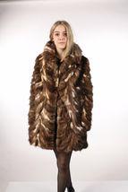 Brown Sable Fur Coat Sectional size Large US 12 EU 42  Genuine Sable 100% image 7
