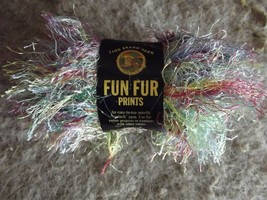 Lion Brand Fun Fur 1 skein 40 grams rainbow color (1 available) - $1.93