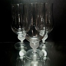 3 (Three) MIKASA SEA MIST Lead Crystal Ice Tea Goblets Glasses DISCONTINUED - $36.09