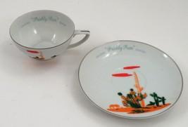 Mint 1950s Mid Century Arizona Prickly Pear Cactus Fine China Cup & Sauc... - $13.32