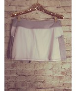 women's Head white/gray with reflective strips skort size L - $13.09