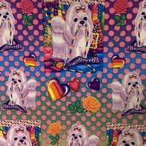 Lisa Frank Complete Sticker Sheet S270 Polka Dot Princess Pearls Maltese Puppy image 2