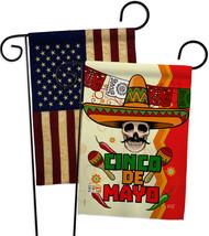 Calavera Cinco de Mayo - Impressions Decorative USA Vintage - Applique Garden Fl - $30.97