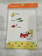 One Fish Two Fish New Fish Dr Seuss Baby Shower Party Invitations 10 Per Package - $5.99
