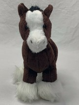 "Ganz Webkins Cydesdale Horse 8"" Brown/White/Black Plush Stuffed Toy  NO ... - $11.88"