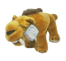 NEW 2002 ICE AGE DIEGO SABRE TOOTH TIGER STUFFED ANIMAL PLUSH TOY W/ TAG... - $36.47