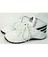 Adidas Low Football Cleats Black AH1602  Iron Skin Size 15 White and Black - $29.02