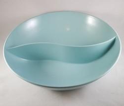 """Vintage Windsor 417-2  Melmac 9 1/2"""" Blue Divided Serving Bowl Dish  - $9.89"""