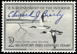 RW23, Artist Signed Edward J. Bierly (deceased) Duck Stamp VF LH - Stuar... - $200.00