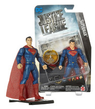 "DC Justice League Superman 6"" Figure with Logo Base Plate New in Package - $12.88"