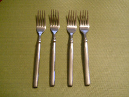 Hampton silversmiths Dominique mirror  stainless set of 4 dinner forks 7... - $17.77