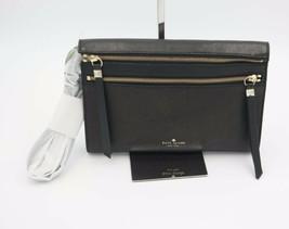 NWT Kate Spade New York Black Social Butterfly Skyler Leather Crossbody ... - £137.40 GBP