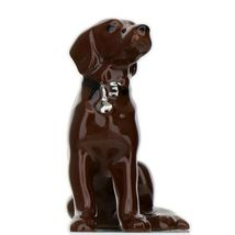 Hagen Renaker Dog Labrador Retriever Sitting Chocolate Ceramic Figurine image 8