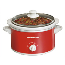 Proctor Silex Portable Oval Slow Cooker, 1.5-Quart- Red - $50.19
