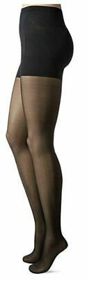 Berkshire BLACK Firm All The Way Bottom's Up Pantyhose, 2-Pack, Size Small