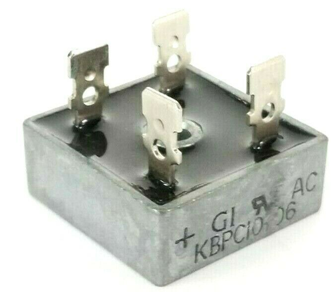GENERAL INSTRUMENTS KBPC10-06 BRIDGE RECTIFIER 10A 50V KBPC1006 4-PRONG