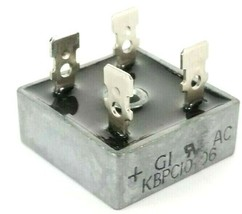 GENERAL INSTRUMENTS KBPC10-06 BRIDGE RECTIFIER 10A 50V KBPC1006 4-PRONG image 1