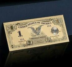"""7X GEM>1899""""GOLD""""$1 SILVER CERTIFICATE BLACK EAGLE  Rep.*Banknote W/COA~... - $69.69"""