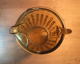 Vintage 70s Anchor Hocking tahiti bamboo pattern glass pitcher image 5