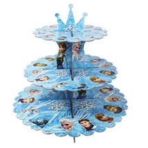Disney la Reine des Neiges Carton Présentoir Cupcake 3-tier Rond Tour - ... - $9.03