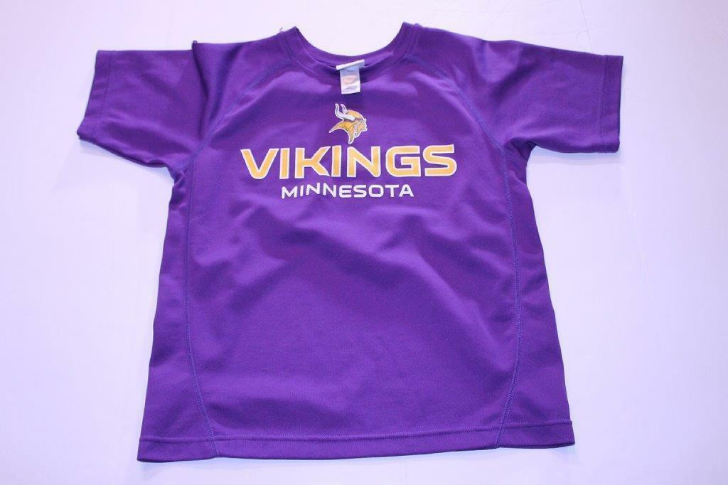 Primary image for Youth Minnesota Vikings L (12/14) Athletic Performance Shirt (Purple) NFL Team A