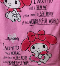 My Melody Pattern 34 X 76 Cm Hot Pink Color Exercise / Shower Use Cotton Towel - $10.99