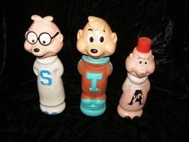 The Chipmunks Soaky Bubble Bath Containers Colgate Imco Theodore Simon A... - $29.99