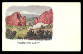 Gateway Postcard Colorado Garden of the Gods Pikes Peak in the Distance ... - $14.99