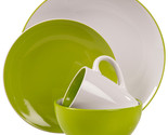 Milano green stoneware 16piece dinnerware set thumb155 crop