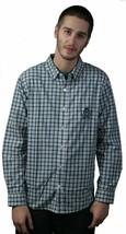 LRG Core Langärmelig Gewebt Kariert Blau Weiß Hemd Größe: 2XL