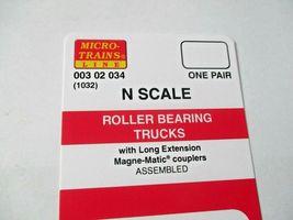 Micro-Trains Stock # 00302034 (1032) Roller Bearing Trucks Long  Extension (N) image 3