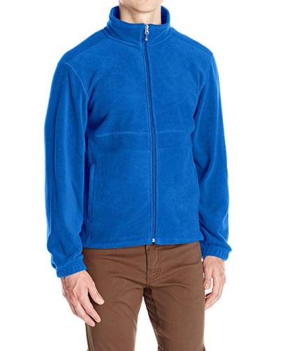 Medium Men's White Sierra Mountain II Full Zip Fleece Jacket True Blue NEW
