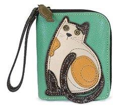 Chala Zip Around Wallet - Cat Teal