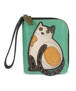 Chala Zip Around Wallet - Cat Teal - $30.00