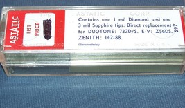 CARTRIDGE Astatic 95D for EV Z56DS 116D, Zenith 142-88 993-DS13 Duotone 732D/S image 2