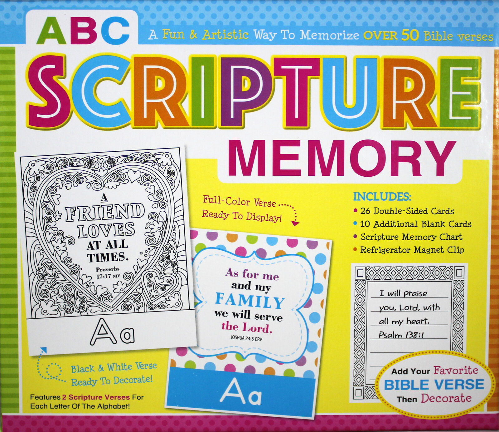 "Primary image for ABC Scripture Memory Box Set Game ""I'm Learning The Bible"" Flash Cards Kids"