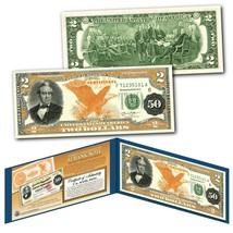 1882 Series Silas Wright $50 Gold Certificate designed on a Real $2 Bill - $13.98