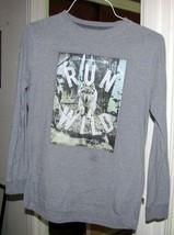 Youth Grey Cotton Tee Shirt Run Wild Size Xl - $7.99