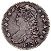1824 50C Bust Half Dollar in XF Condition, Natural Color, Nice Detail fo... - $197.99