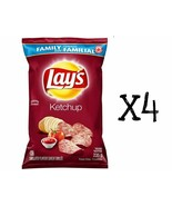 4x Bags Lays Ketchup Chips LARGE Family Size 235g From Canada FRESH NEW - $31.67