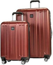 Skyway Whittier 2- Piece Spinner Hardside Travel Suitcase Luggage Set, Red