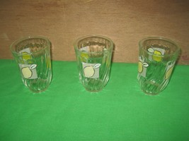 Vintage Set of 3 Lemon Glass Tumblers Firna Ind... - $12.82