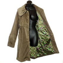Anthropologie TULLE Corduroy Coat Jacket Bell Sleeve Women's L/XL Brown  - $36.48
